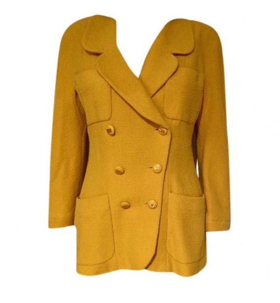 Vintage Early 90's Chanel Yellow Jacket