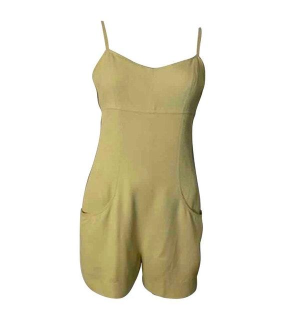 Vintage Chanel Boutique 97P Lime Green Jumpsuit Sh