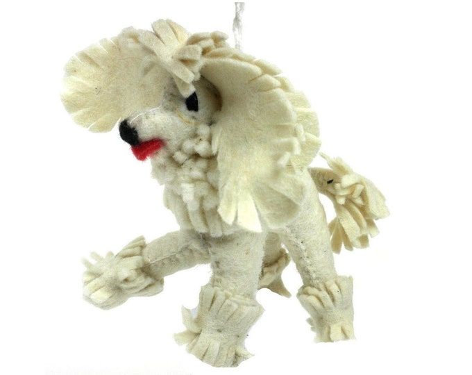 Felt Poodle Ornament - Silk Road Bazaar (O)