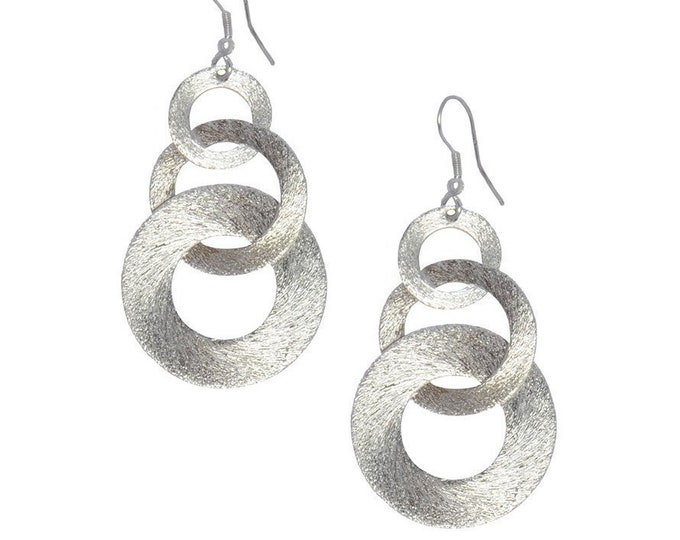 Linked Up Earrings - Silvertone - Matr Boomie (Jewelry)