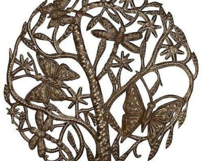 Dancing Butterflies and Dragonflies 24 inch Metal Art - Croix des Bouquets