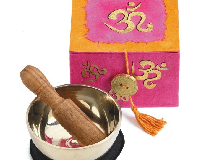 Meditation Bowl Box: 3'' OM - DZI (Meditation)