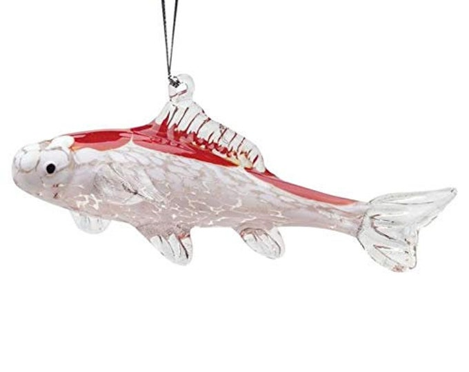 Hand Crafted Glass Koi Fish Glass Christmas Ornament or Figurine