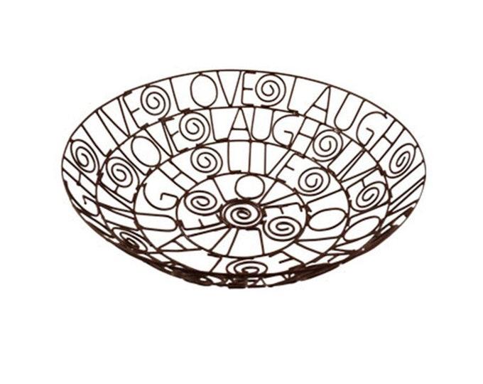 Live, Laugh, Love Wire Fruit Bowl - Mira (Bowl)