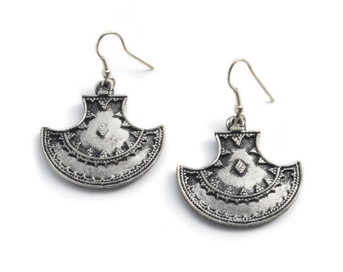 Maratha Queen Earrings - Silver - Matr Boomie (Jewelry)