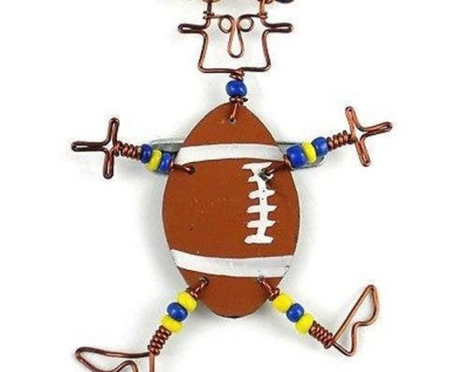 Dancing Girl American Football Pin - Creative Alternatives