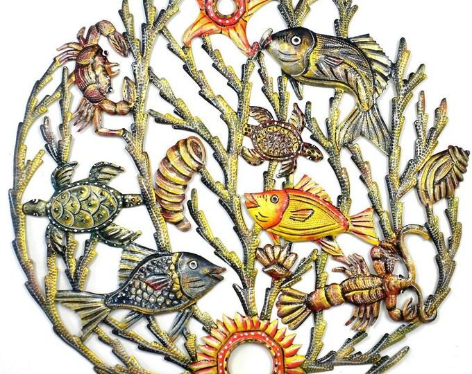 Painted Sea life Metal Wall Art - Croix des Bouquets