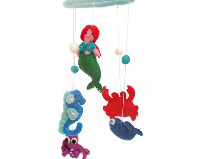 Felt Mermaid Mobile - Global Groove