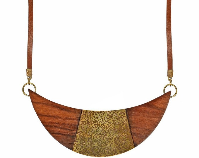 Earth and Fire Crescent Necklace - Matr Boomie (Jewelry)