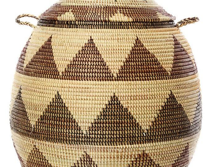 Large Black and Cream Dune Laundry Hamper Basket