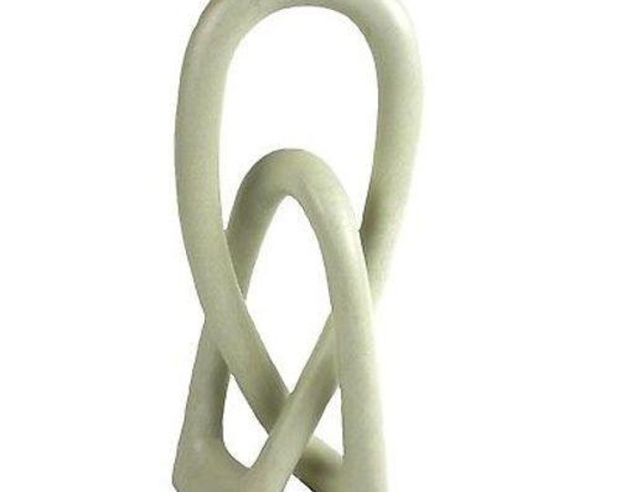 Natural Soapstone 10-inch Lover's Knot - Smolart