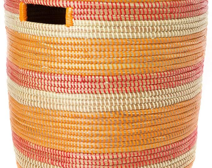 Orange, Red & Cream Sahara Basket