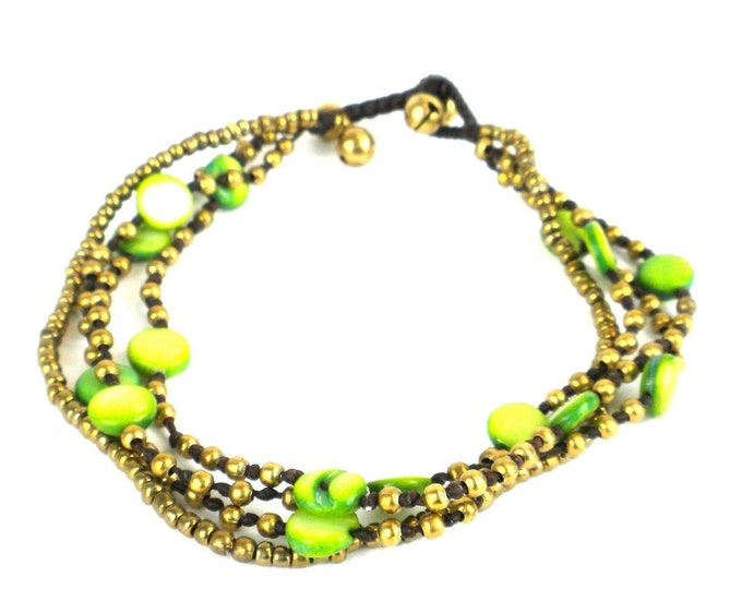Many Moons Anklet Lime - Global Groove (J)