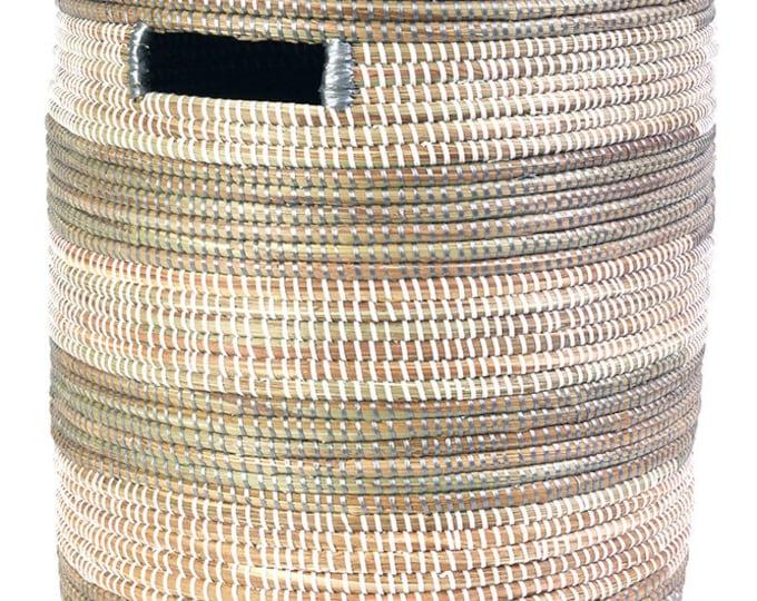 Silver & White Sahara Basket