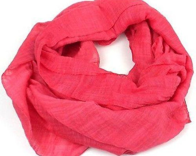 Lucille' Infinity Scarf in Coral - Faire Collection (S)