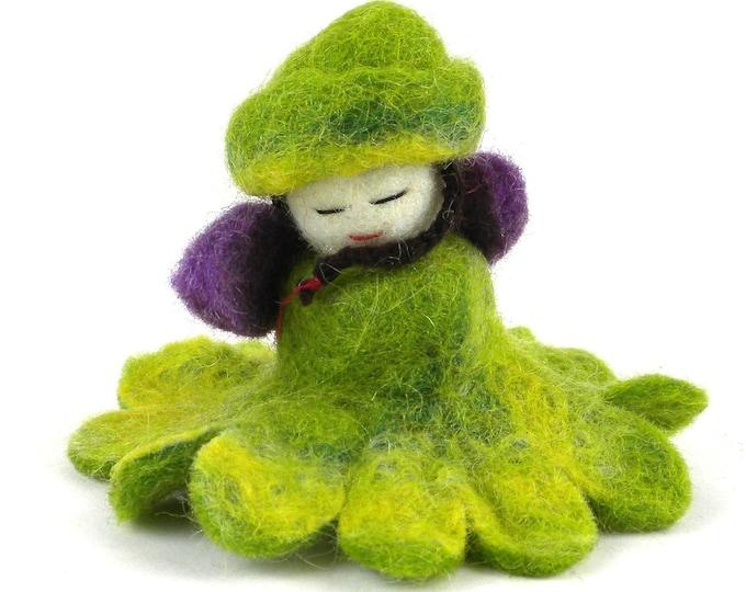 Green Felt Flower Fairy - Global Groove