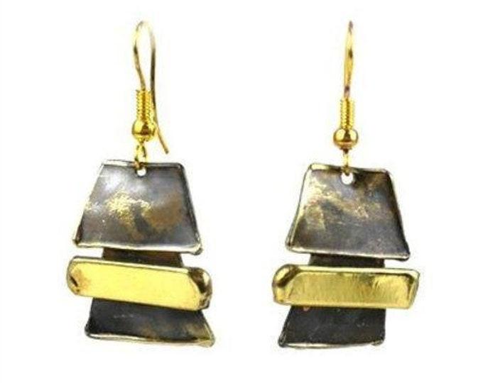 Zen Brass Earrings - Brass Images (E)
