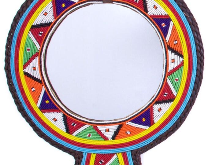 Large Maasai Wedding Necklace Mirror