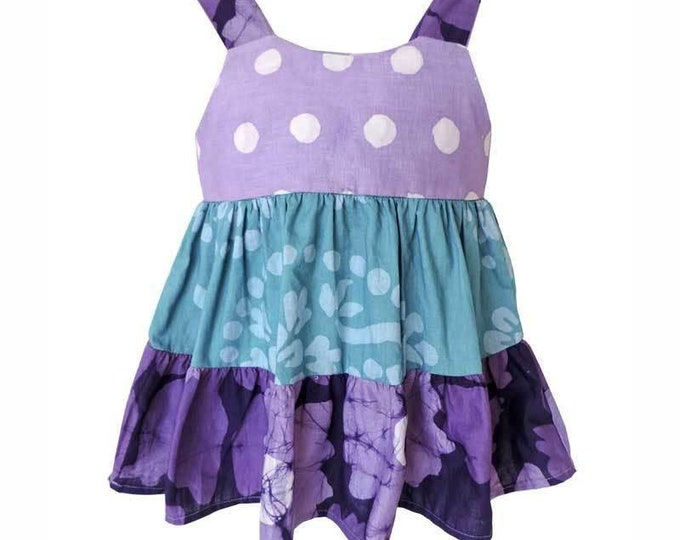 Baby Gypsy Dress Violet Patchwork - Global Mamas (B)