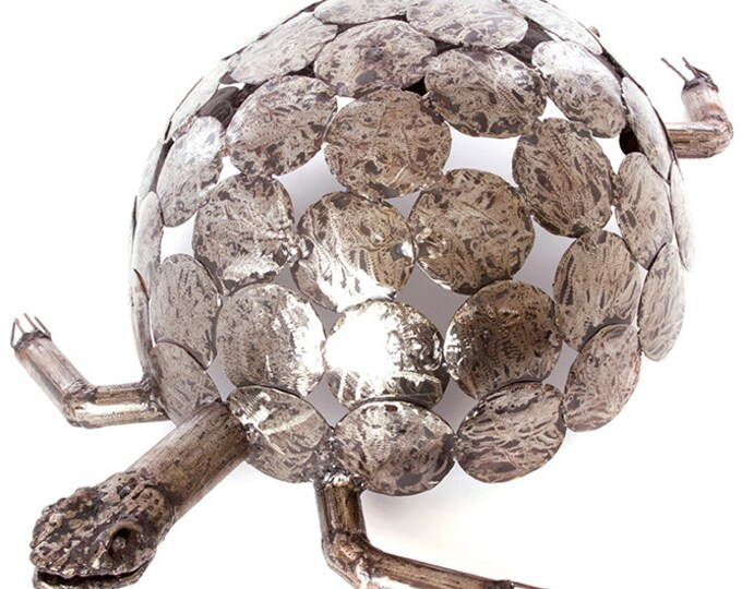 Large Recycled Metal Tortoise Sculpture