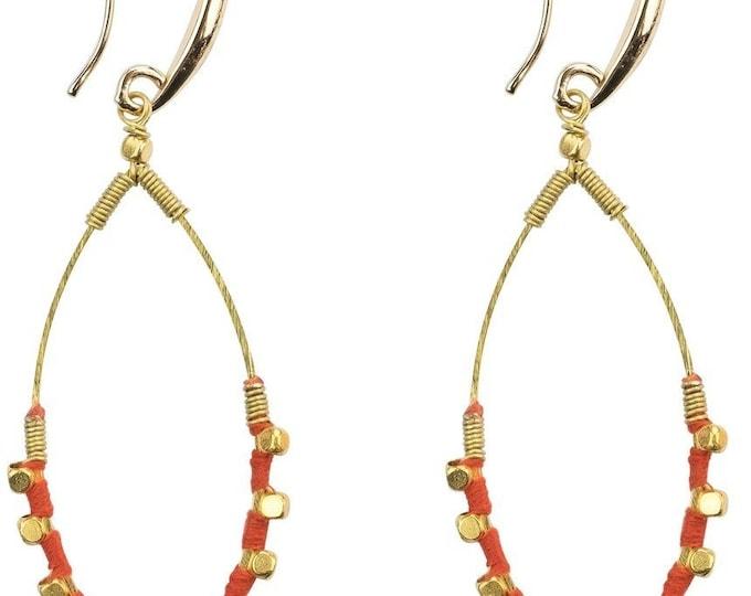 Earrings: Jane Tangerine - Marquet (J)