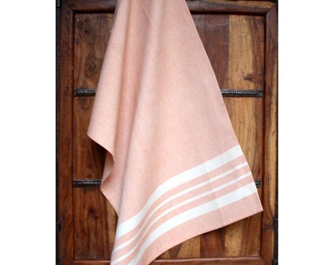 Peach Cotton Kitchen Towel - Sustainable Threads (L)