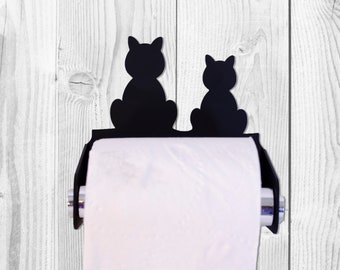Cats Toilet Paper Roll Holder, Dispenser, Kitty TP Roll, Bathroom Decoration, Gift for Cat Lovers