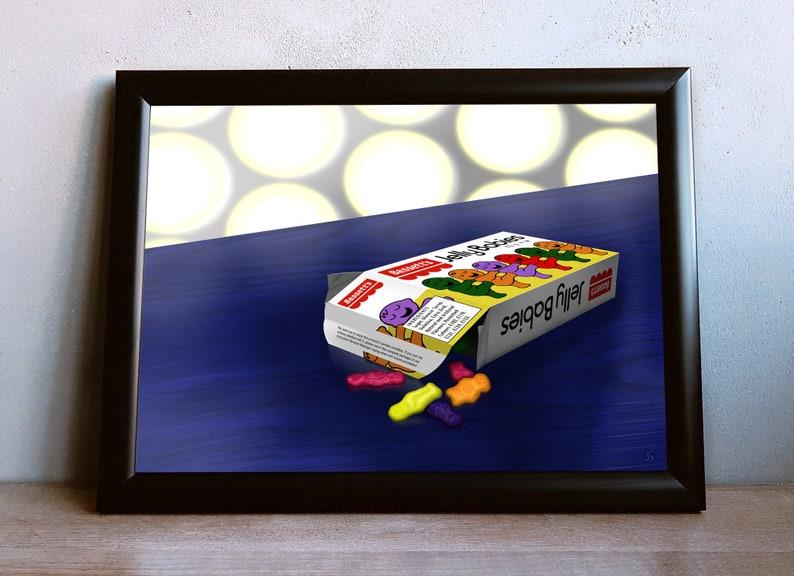 Doctor Who Jelly Babies Printable Wall Art Tardis Dr. Who image 0