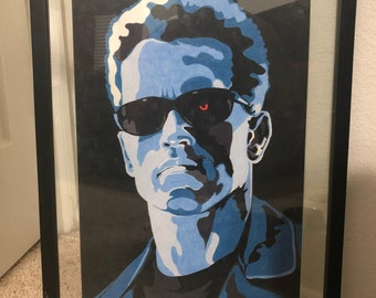 The Terminator Arnold Schwarzenegger Original Drawing