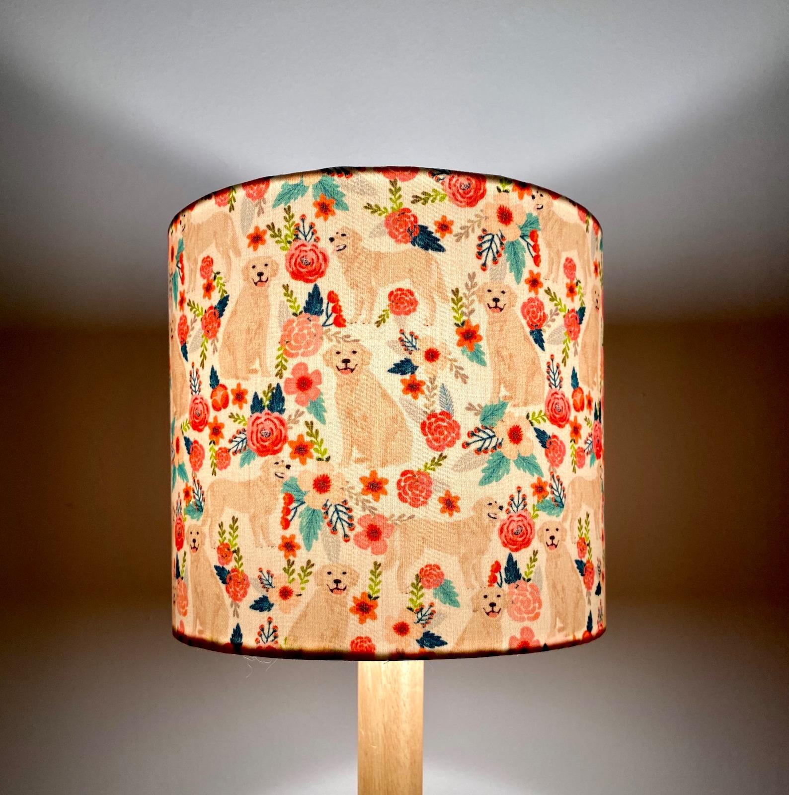 Golden Retriever Lampshade