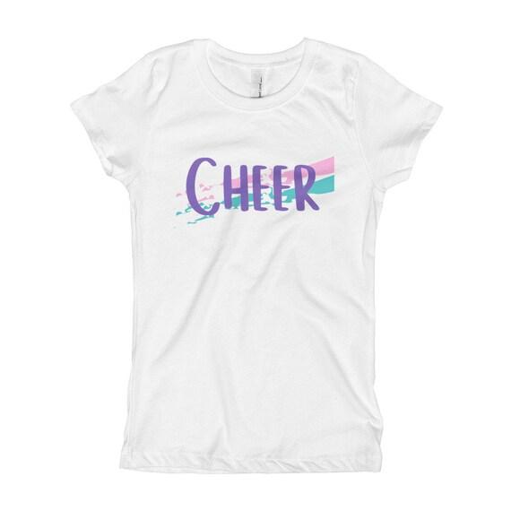 Cheerleader Cheer Typography Girls Fitted T-Shirt Girl Cheerleading