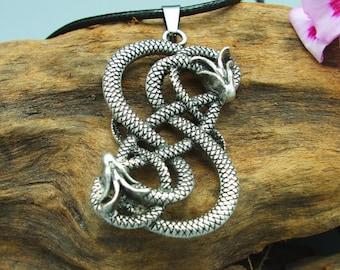 Viking Snake Pendant of Urns
