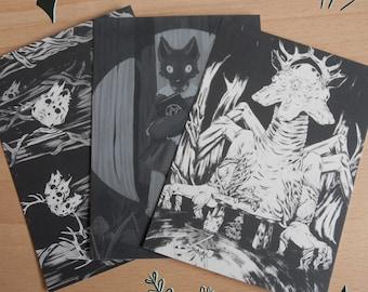 Pack of three postcards