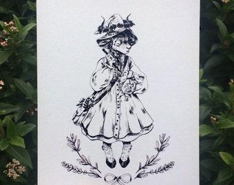 Little Goat Witch A5 Art Print/Illustration