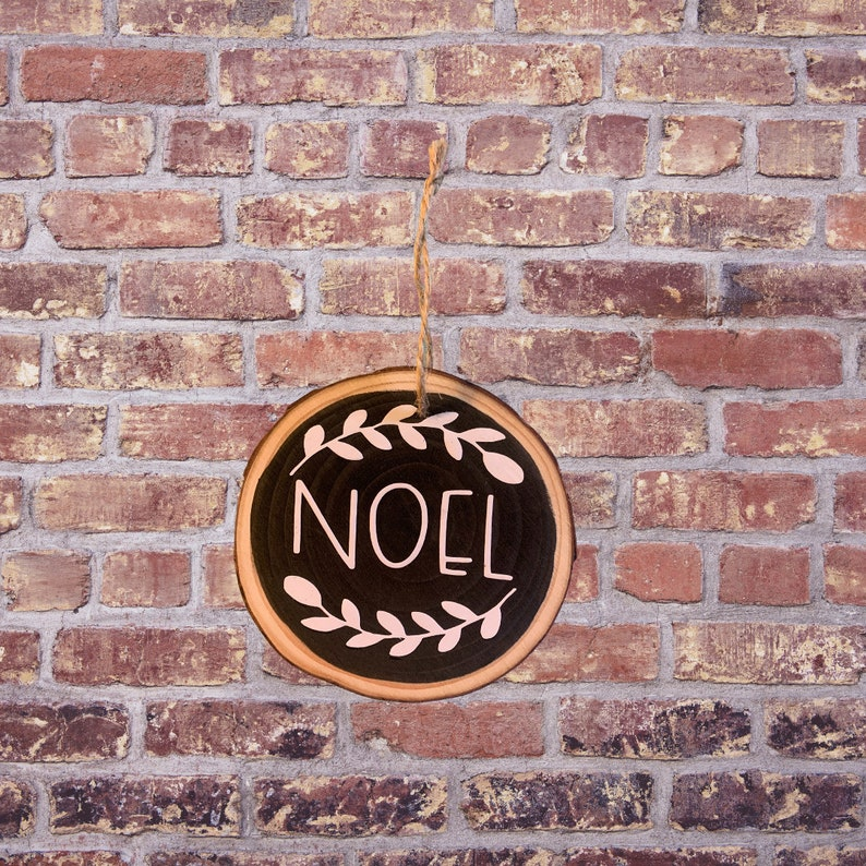 Painted Wood Christmas Ornaments Wood Ornaments Wood Slice Ornaments Gift Christmas Decor Farmhouse ornaments