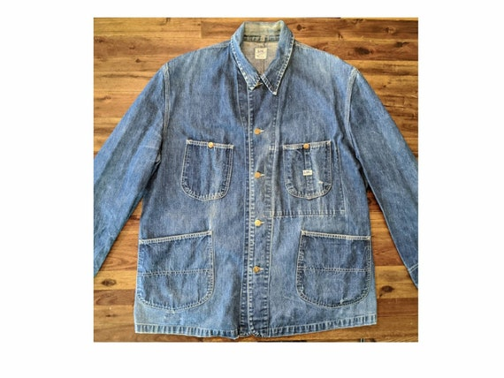 Vintage Men's 1950's Lee 91-J Denim Chore Jacket -