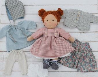 Waldorf inspired doll 15inches, Waldorf doll clothes