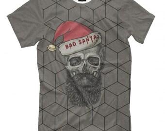 X-Mas Christmas Claus Weihnachten Bad Santa Herren Fun T-Shirt PAPAYANA