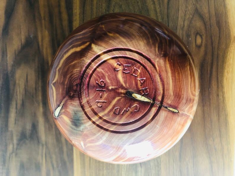Eastern Red Cedar Bowl titled Barbwire
