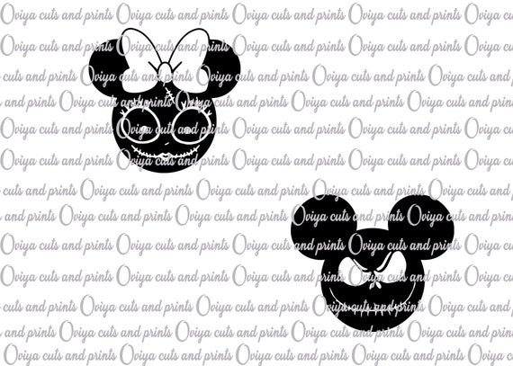 Mickey Mouse Jack Skellington Ans Sally Svg The Nightmare Etsy
