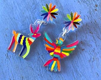 Mexican culture Otomi artesanal earrings