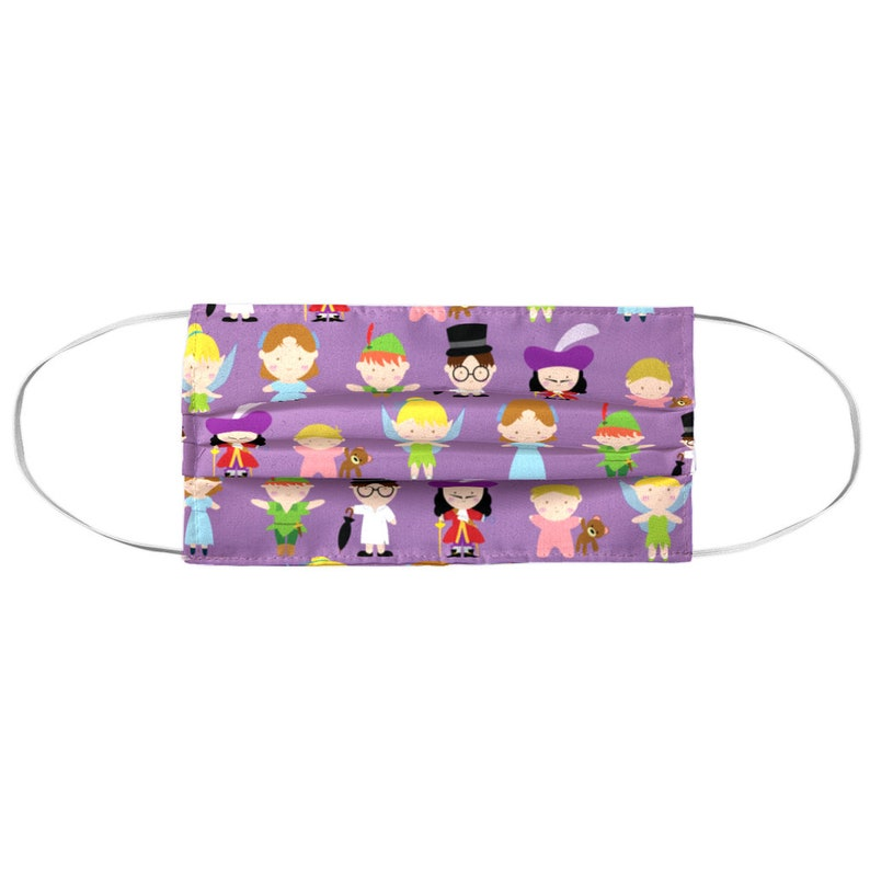 Washable Face Mask Cover With Filter Pocket Neverland Purple image 0