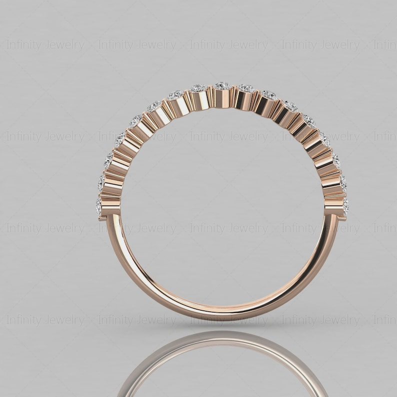 Diamond Stackable 14k Solid Gold Ring