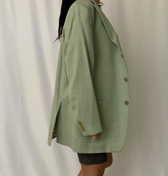 Vintage Oversized Linen Blazer - image 6
