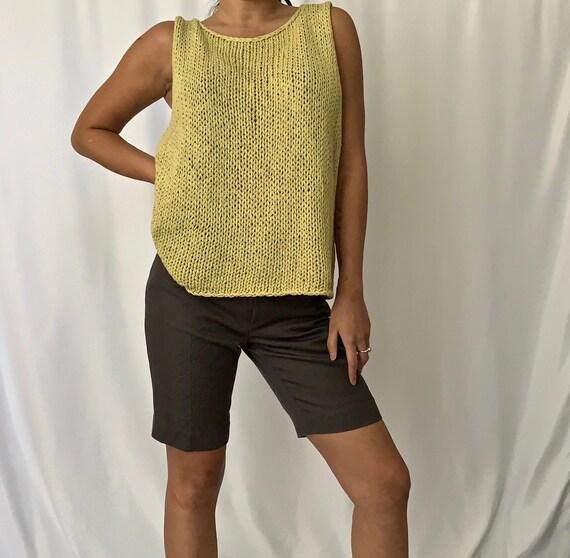 Vintage Woven Knit Vest