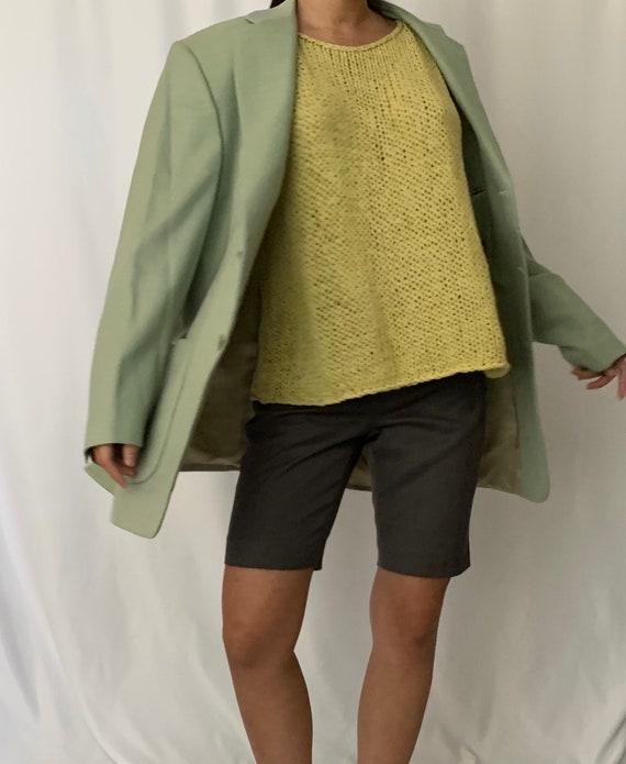 Vintage Oversized Linen Blazer - image 3