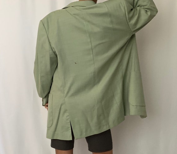 Vintage Oversized Linen Blazer - image 5