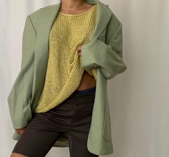 Vintage Oversized Linen Blazer - image 1