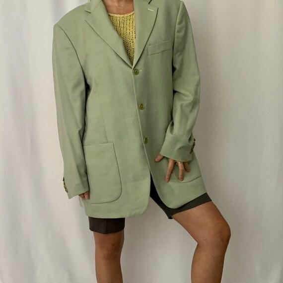Vintage Oversized Linen Blazer - image 7
