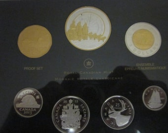 With COA and Envelope 1970 - Pl Set Canada RCM Proof Like Mint